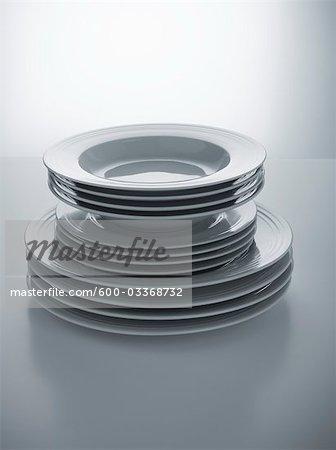 Stapel von passenden Platten