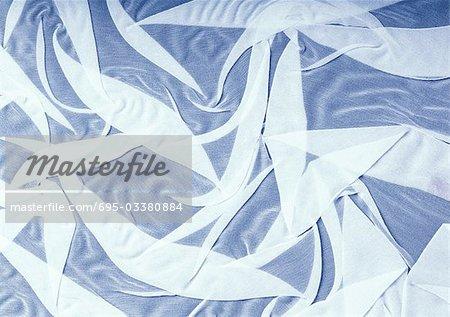 Falten in weißem Chiffon, Nahaufnahme, full-frame