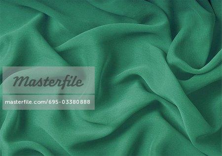Vert en mousseline de soie, close-up, plein cadre