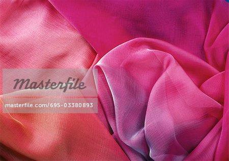 Pink-toned chiffon, close-up, full frame