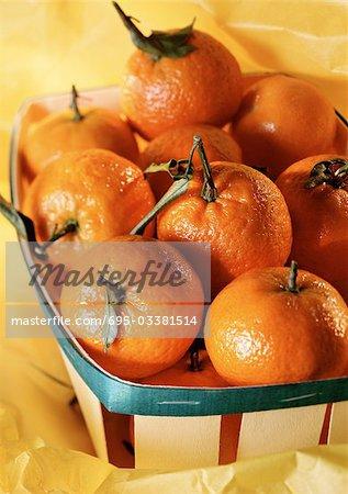 Clementinen in Korb