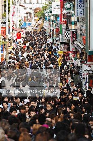 Takeshita-Dori, quartier Harajuku, Shibuya, Tokyo, région de Kanto, Honshu, Japon