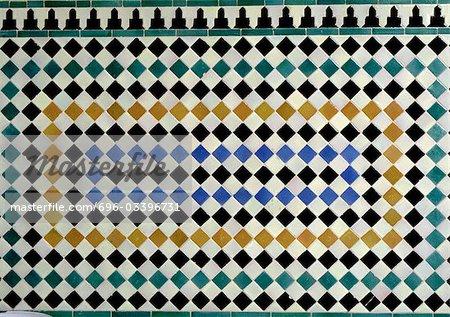 Tile mosaic, close-up