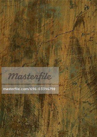 Fissures mur de plâtre brune, gros plan