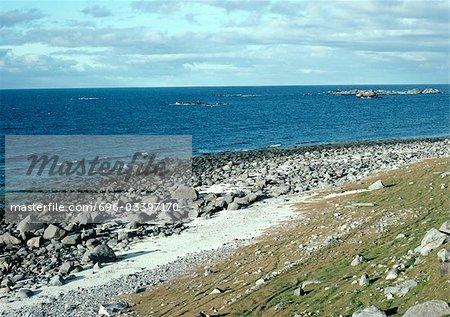 Sweden rocky beach