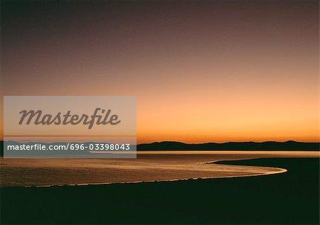 Californie, Monolake au coucher du soleil