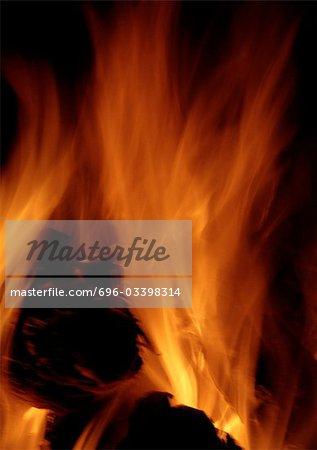 Fire, blurred