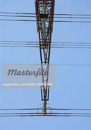 Electric pylon, close-up