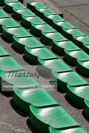 Sièges au champ de courses, Spa, Liège, Wallonie, Belgique