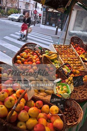 Fruit Stand in Outdoor Market