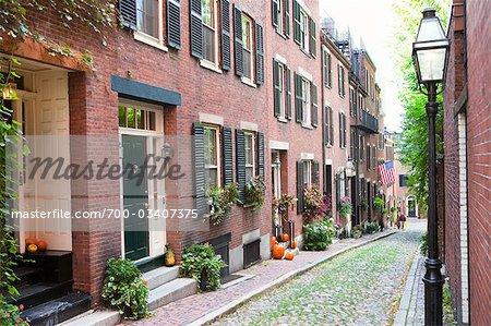 Habitations sur Beacon Hill, Boston, Massachusetts, USA