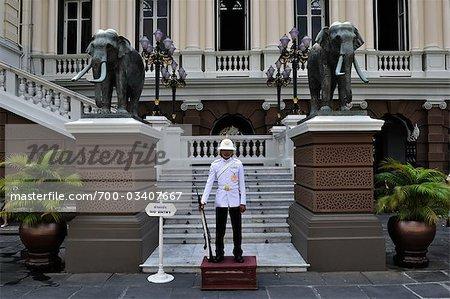 Garde au Grand Palais, Bangkok, Thaïlande