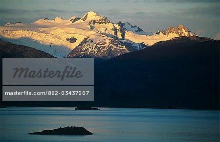 Chile,Region XI. Campo de Heilo Norte and Lago General Carrera.