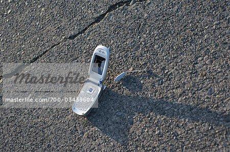 Téléphone portable sur le terrain