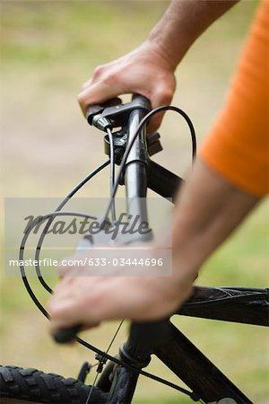 Vélo personne, recadrée vue
