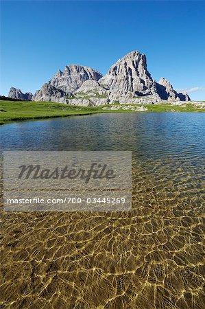 Laghi dei Piani and Innichriedlknoten, Dolomites, Bolzano Province, Alto Adige, South Tyrol, Italy