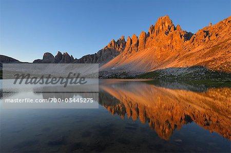 Paternkofel and Laghi dei Piani, Dolomites, Bolzano Province, Alto Adige, South Tyrol, Italy