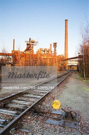Fusion des structures à Landschaftspark Duisburg-Nord, Duisbourg, Nord-Rhénanie-Westphalie, Allemagne