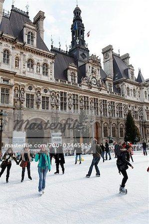 Skaten, Hotel de Ville, 4. Arrondissement, Paris, France, Frankreich
