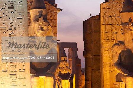Ruins at Karnak, near Luxor, Egypt
