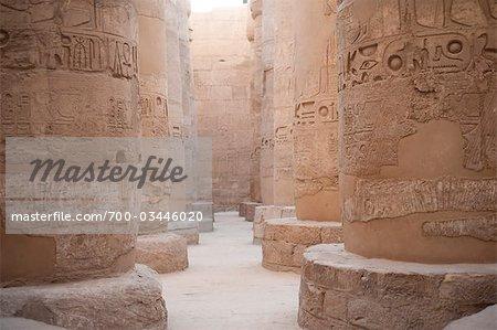 Pillars at Karnak, near Luxor, Egypt