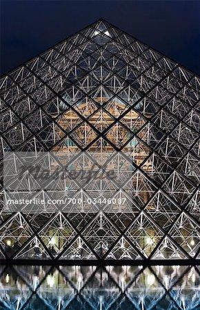 Pyramide en face du Musée du Louvre, Paris, France