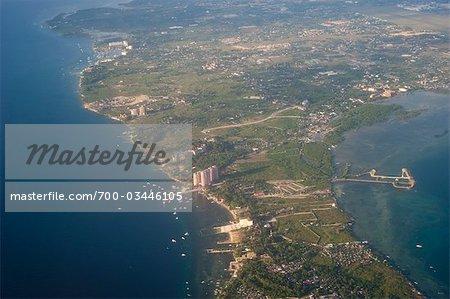 Aerial View of Davao, Mindanao, Philippines
