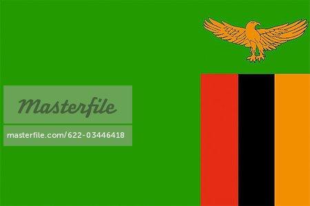 Drapeau National de Zambie