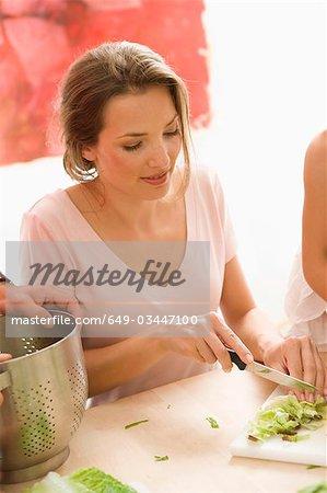 Femme cuisine