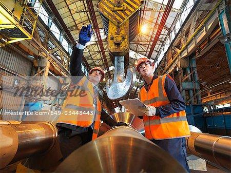 Engineer & Apprentice With Steel Rollers