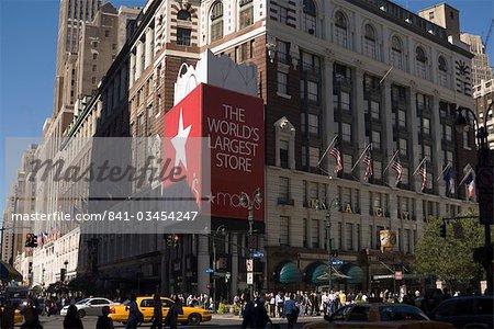 L'Amérique du Nord de Macy grand magasin, Manhattan, New York City, New York, États-Unis d'Amérique,