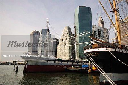 South Street Seaport, Lower Manhattan, New York City, New York, États-Unis d'Amérique, l'Amérique du Nord
