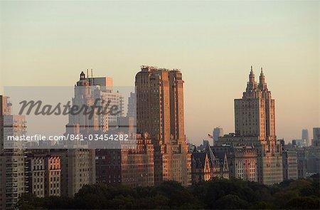 Vue des toits de la ville de Central Park Sud, regardant vers le Nord, Manhattan, New York, New York État, États-Unis d'Amérique, l'Amérique du Nord