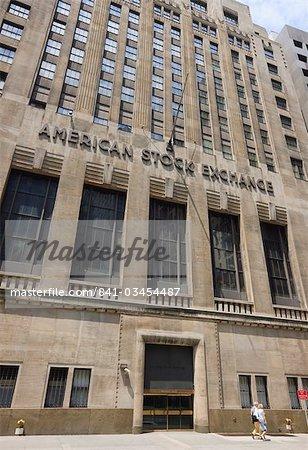 La American Stock Exchange, Manhattan, New York City, New York, États-Unis d'Amérique, North America