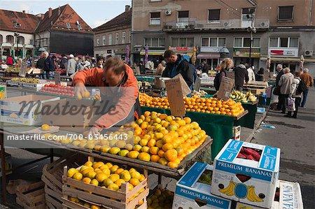 Marché de l'agriculteur, Zagreb, Croatie