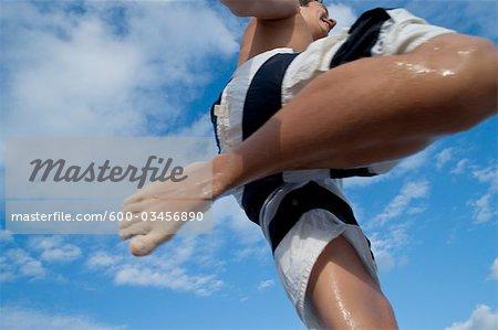 Junge, springen in die Luft, Mexiko