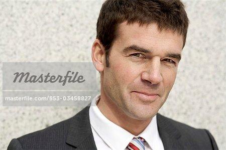 Portrait of an businessman, eye contact