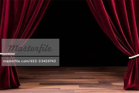 Ein leeres Theater Bühne
