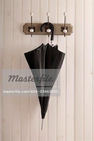 Umbrella on Coat Rack
