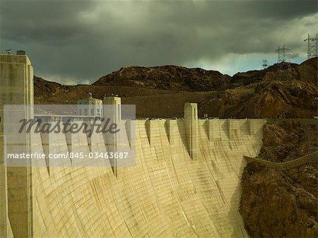 Hoover Dam, Nevada, regardant vers l'Arizona