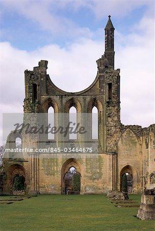 Byland Abbey. Vue de l'intérieur de la façade ouest.