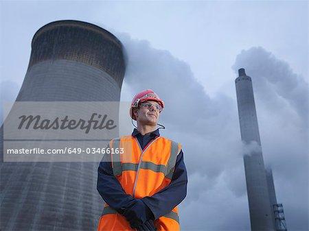 Travailleur au charbon ont tiré Powerstation