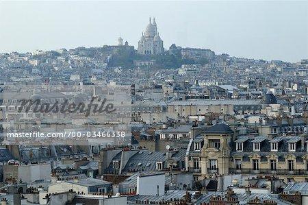 Paysage urbain avec le Sacré Coeur, Paris, France