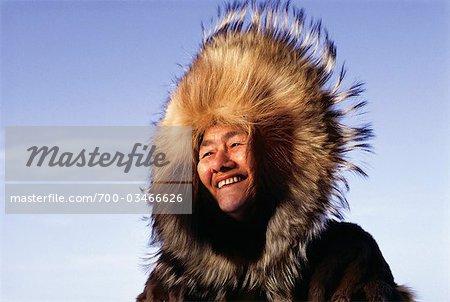 Portrait of Woman, Northwest Territories, Canada