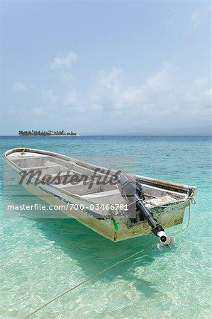 Boat in Water, San Blas Islands, Panama