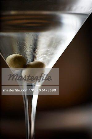 Vodka Martini aux Olives