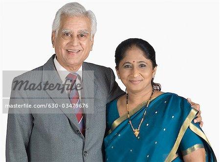 Reife Frau und alter Mann
