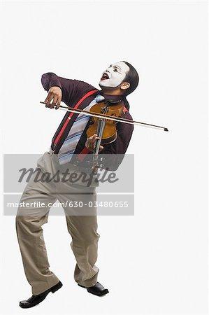 MIME ein Geigenspiel