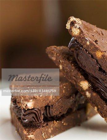 Gros plan des sandwichs au chocolat