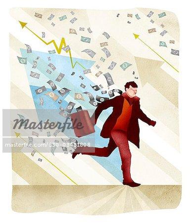 Konzeptionelle Image, das die Inflation in der Wirtschaft